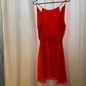 Bright orange party dress